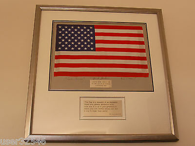 Apollo 12 Mission (Flown to Moon) USA/American LARGE Flag Crew Hand-Signed NASA