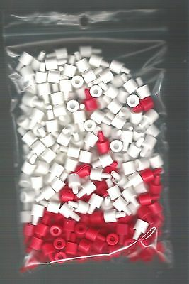 Battleship Game Pieces - set of 84 red + 168 white pegs - short version