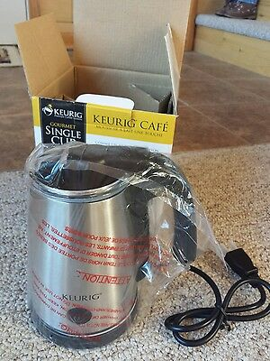 Keurig Stainless Steel Single Cup Milk Frother MF-02 NOS Sealed Never Used