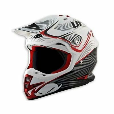 Size M - Helmet UFO Mx Helmet Warrior X-Zone White Black Red Cross Enduro DH