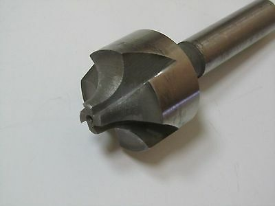 "3/8"" Radius 1-1/4"" dia 4 Flute HSS Single End Corner Rounding End Mill 1/2"" shnk"