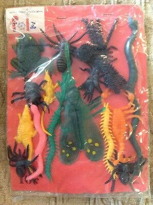 Vintage Folz Vending Machine Card  Oily Jiggler? Rubber Fly Spiders Snakes Frog