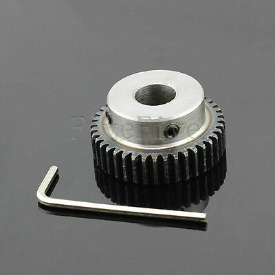 1M40T 6-20mm Bore Hole Width 10 Module 1 Motor Metal Spur Gear With Top Screws