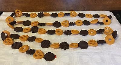 Vintage Plastic Blow Mold Christmas Cookie Garland 8ft