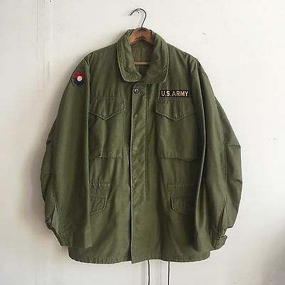 Vintage Vietnam Era M65 Field Jacket With Patches Men's L
