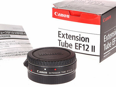 Canon Extension Tube EF12 II Macro Extender Adapter 12mm - Ex+ in box