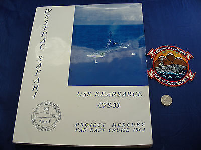 U.S.S. Kearsarge 1963 Cruise Book, Mercury Faith 7 Recovery + Vintage Patch NASA