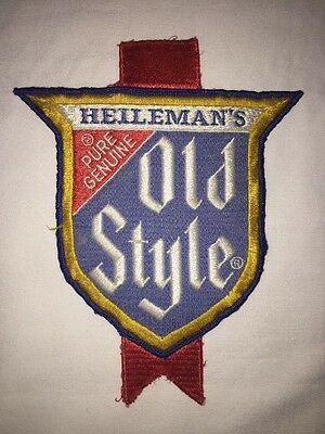 """Large 8x6.5"""" Heileman's Old Style Beer Patch Hat Shirt Jacket Showtime Shameless"""