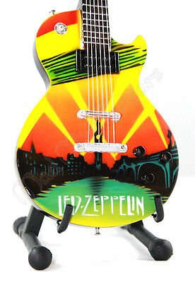 Miniature Guitar LED ZEPPELIN with free stand. Celebration Day