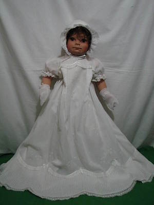"VIRGINIA EHRLICH TURNER ""MORGAN"" CHRISTENING DOLL 1996 LE 500 w BOX COA 27"" TALL"