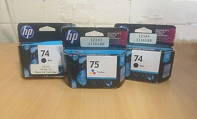 Vivera HP inks Black (x2) and Tri-Colour (x1) Ink Carts