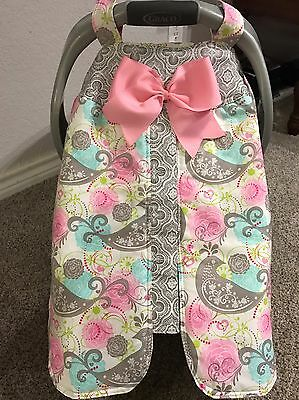 Handmade Baby Girls Infant Car Seat Canopy-Cover