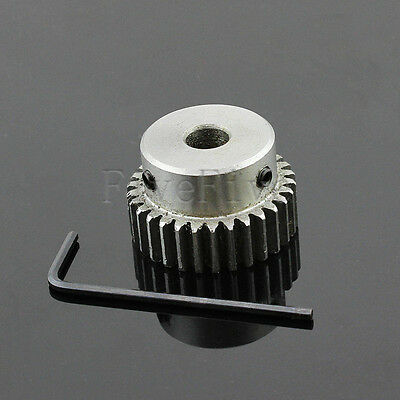 1M30T 5-17mm Bore Hole Width 10 Module 1 Motor Metal Spur Gear With Top Screws