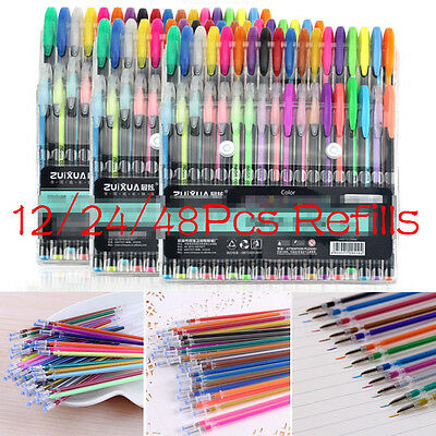 Fun&Art 100 Gel Pen Set Great for Adult Coloring Book and Kids Painting NEW HG