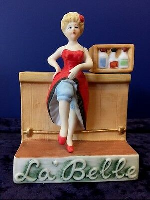 La Belle Brothel Bar Dug's Figural Decanter Liquor Bottle Saloon Girl Nevada