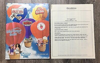 Kenner 1981 Toy Catalog With Price Sheet - RARE MINT CONDITION