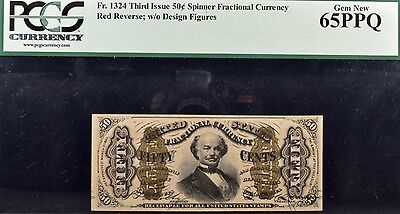 Fr.1324 Third Issue 50c Spinner Fractional Currency PCGS 65PPQ