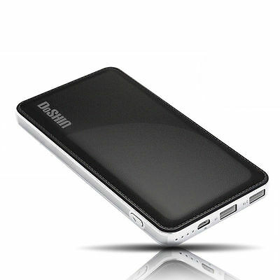UK Universal 50000mAh External Battery 2 USB Power Bank Charger For Cell Phone