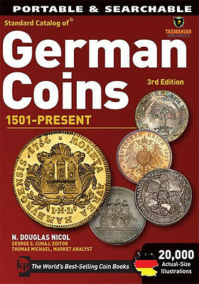 GERMAN COINS CATALOGUE AND VALUES ON CD PORTABLE & SEARCHABLE 3rd EDT 1501- DATE