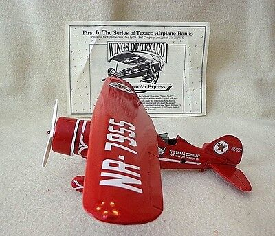"Ertl Coin Bank ""wings Of Texaco"", A 1929 Lockheed Air Express Airplane,metal,nib"