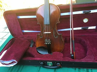 Beautiful Violin With Bow And Case