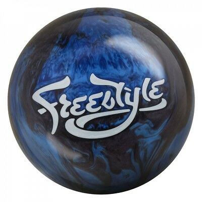 Motiv Freestyle Black/Blue Bowling Ball Reactive perfect for Beginners