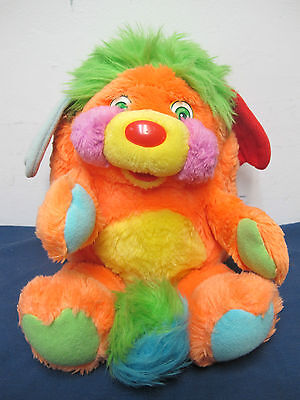 Puzzle Popples Orange Green Popple American Greetings 1986 Plush Doll