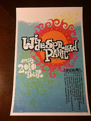 Widespread Panic Spring 2010 tour, signed and numbered