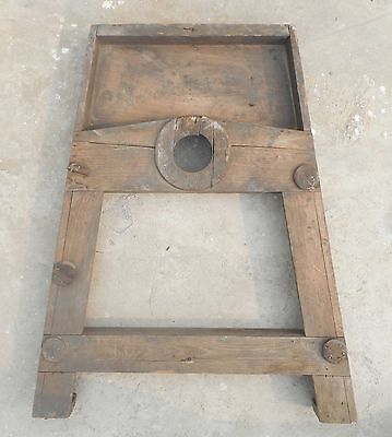 Steampunk wood wooden Mould/mold of Industrial machine décor project my22