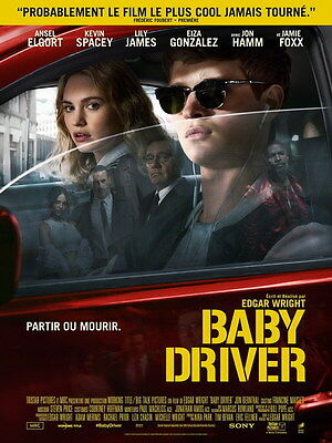 """004 Baby Driver - Ansel Elgort Car Crime Actioon UK Movie 24""""x32"""" Poster"""