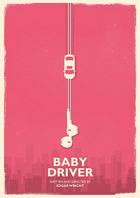 """017 Baby Driver - Ansel Elgort Car Crime Actioon UK Movie 24""""x33"""" Poster"""
