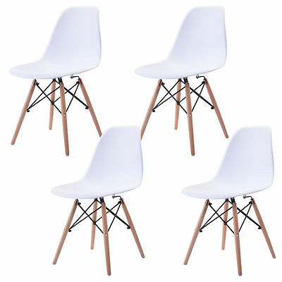 4PCS Retro Replica Eames Eiffel DSW Dining Chairs Office Cafe Kitchen LivingRoom