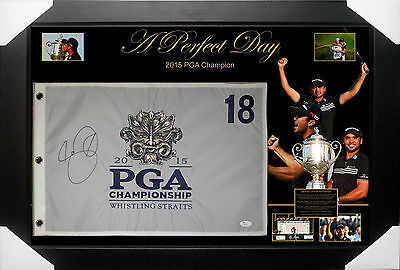 Jason Day 2015 Pga Signed Framed Pin Flag Jsa James Spence Authenticated #n40919