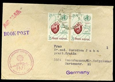 Nepal Germany Mountain Everest LHOTSE Expedition cover 1972