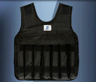 30kg Max Loading Weighted Vest Adjustable Jacket Boxing Training Waistcoat
