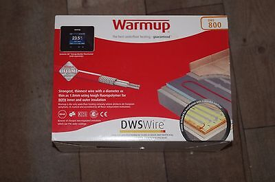 Warmup Underfloor Heating Loose Wire Cable Kits  DWS800 4.5-5.9 Sq/Mtr 800w