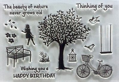 NEW Clear cling stamps for Card making & stamping Unbranded BIRTHDAY BEAUTY