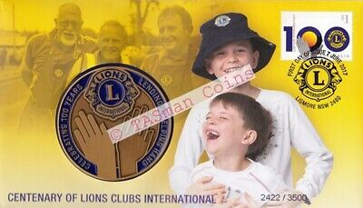 Australia - 2017 - Lions Clubs International Centenary Medallion PNC/FDC - L/E