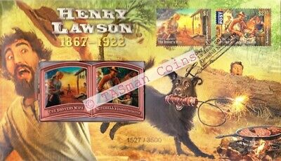 Australia - 2017 - Henry Lawson Medallion PNC/FDC - Limited Edition 3500