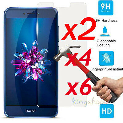 6x 9H Premium Tempered Glass Screen Protector Cover Film For Huawei Honor 8 Lite