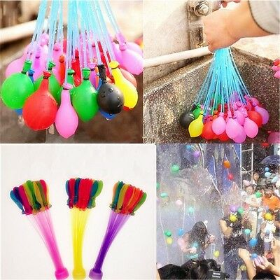 3 Bunch=111pcs Summer Balloons Magic Balloons Filled With Water Kids Outdoor Toy