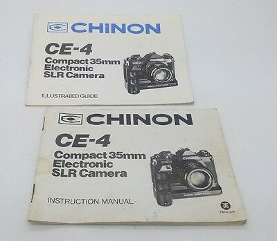 Original CHINON CE-4 film camera Instruction Manual (p.36) & Illustrated Guide