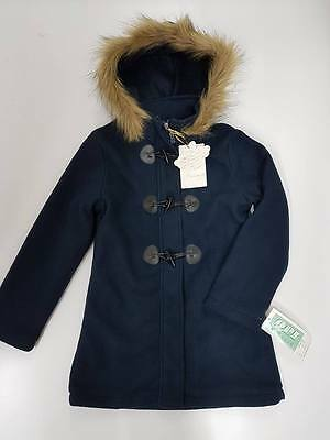 Winter jacket parka coat girl hooded fur lining thick jacket FF367 10 to 14 Navy