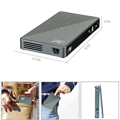 1080P Full HD Wifi Wireless Mini Pocket Pico Projector DLP LED Home Theater HDMI