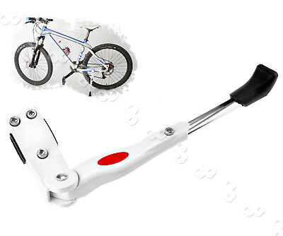 White Bike Bicycle  Adjustable Side Kickstand Prop Kick Stand Rubber Foot AU