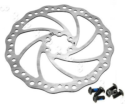 180mm Bicycle Mountain Bike Disc Brake Rotor with bolts AU Stock
