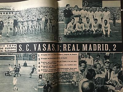 1961 European Cup. Vasas v Real madrid. Real Madrid official magazine