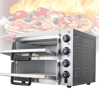 Commercial Electric Double Deck Stone Pizza Oven Pizza Bread Making Machines