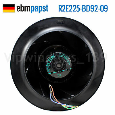 R2E225-BD92-09 ebmpapst fan 230V 0.60A Centrifugal Fan Made in Germany Original