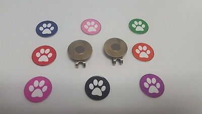 Dog Paw Print Magnetic Hat Clip and Golf Ball Marker